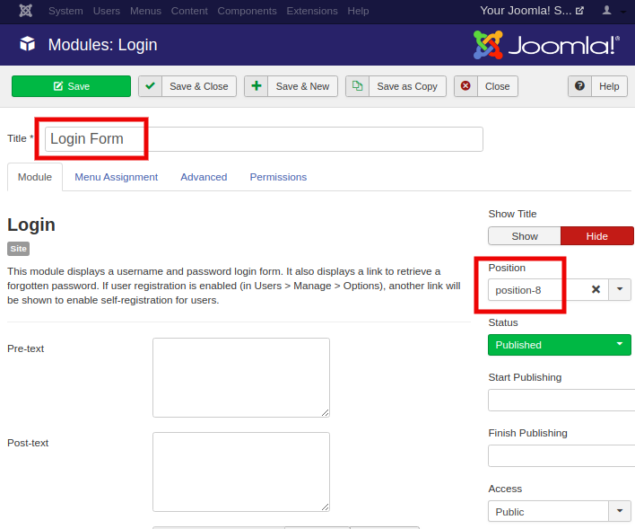 Joomla Create Modules