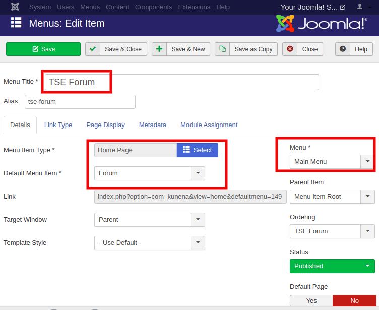 Joomla Forum