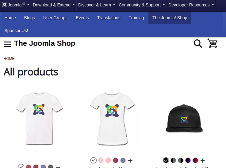 Joomla Help Menu