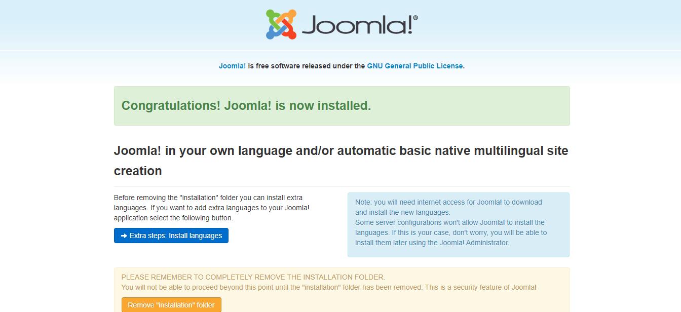 Joomla Installation on Windows