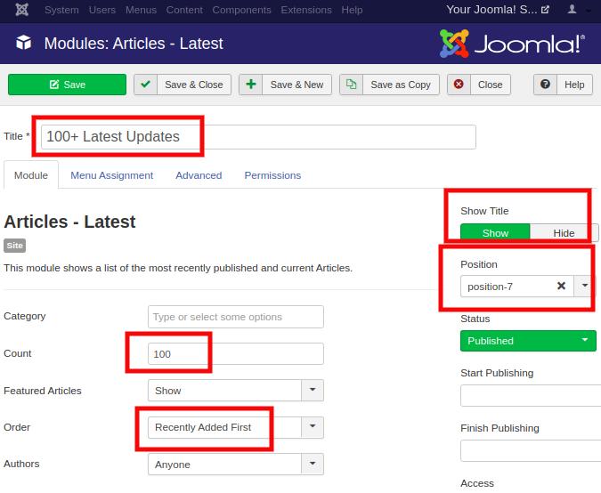 Joomla Module Types