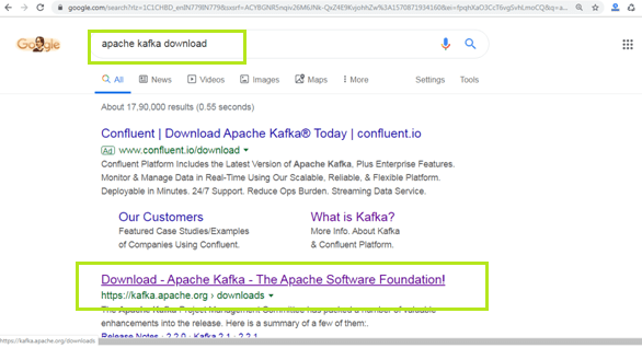 Installation of Apache Kafka
