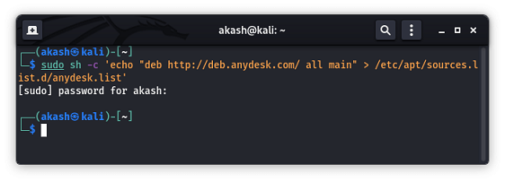 How to install AnyDesk on Kali Linux