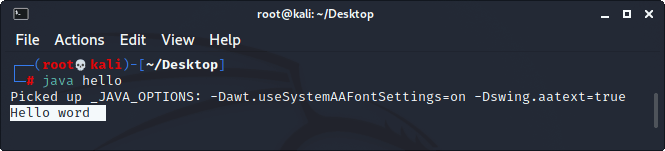 How to run a java program on Kail Linux?