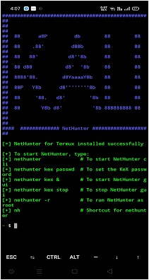 Kali Linux net hunter