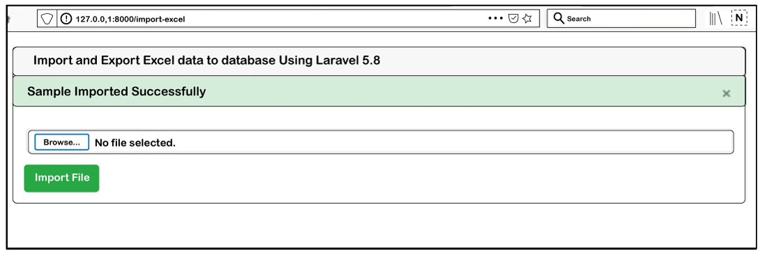 Import and Export CSV file in Laravel 5.8
