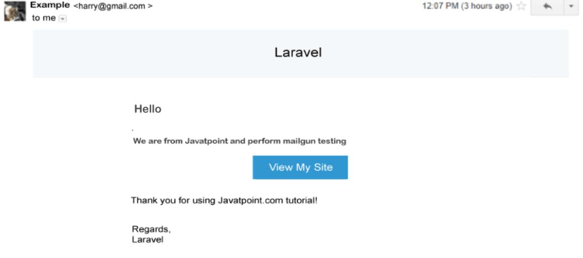 Laravel Mailgun Setup