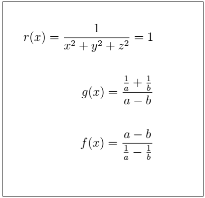 Latex Fractions 5