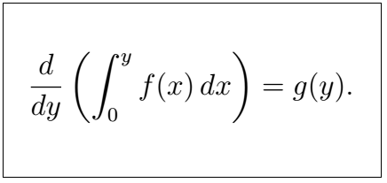 Latex Integral 1