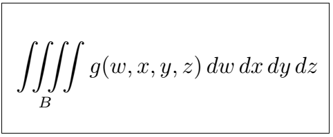 Latex Integral 4