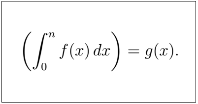 Latex Integral