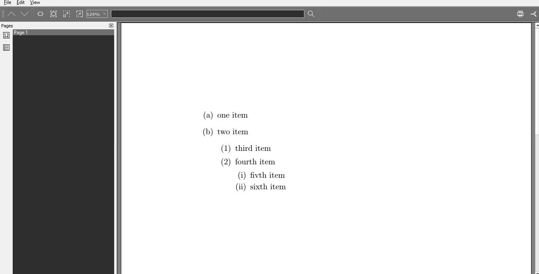 Latex LISTS