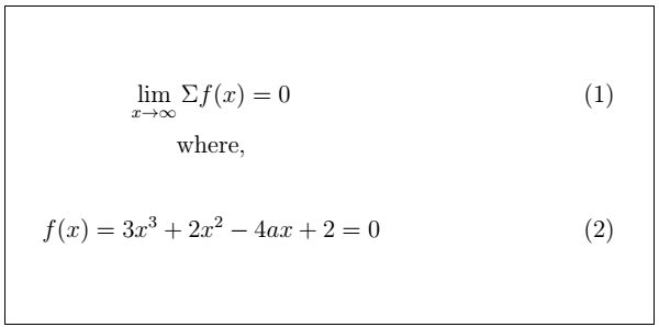 Latex Mathematical Equations 12