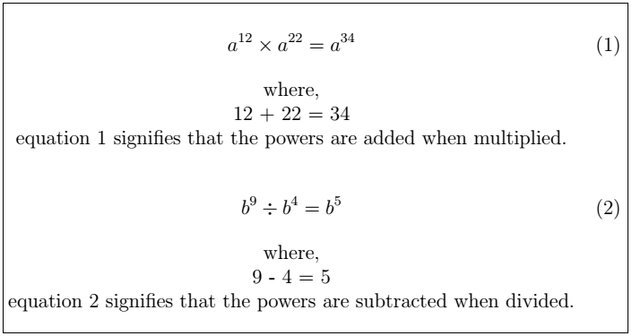 Latex Mathematical Equations 14