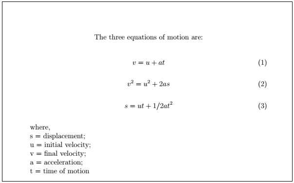 Latex Mathematical Equations 6