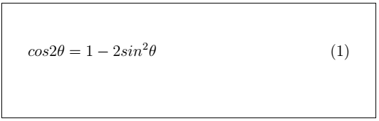 Latex Mathematical Equations 8
