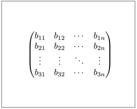 Latex Matrix 2