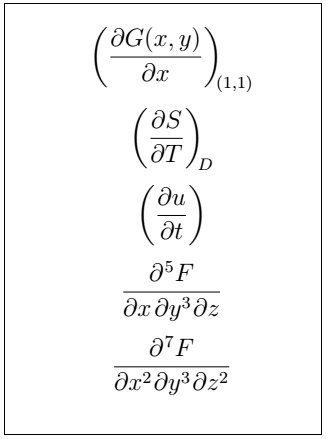 Latex Partial Derivative 10