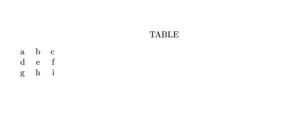 Latex TABLE