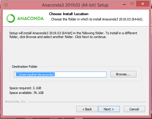 Installing Anaconda and Python
