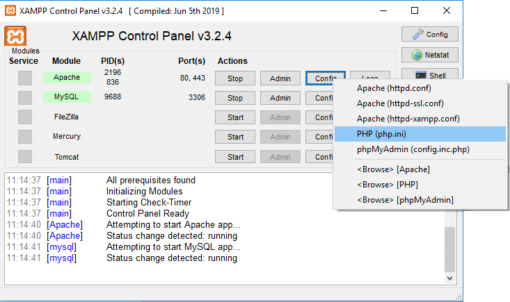 Errors while installing Magento 2