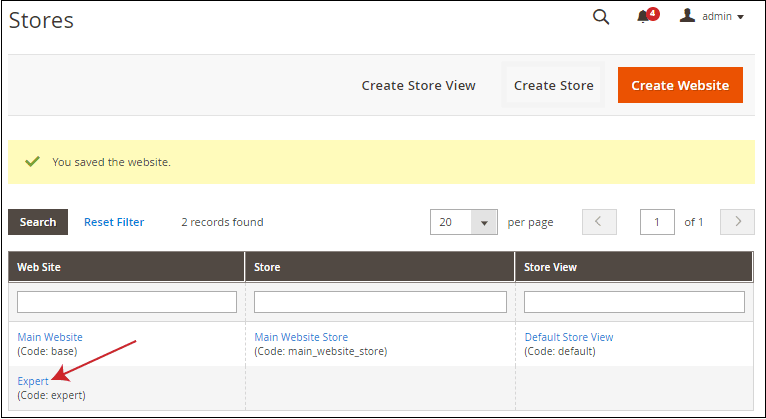 How to set up multiple websites, stores, and store views in Magento 2