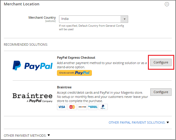 PayPal Setup in Magento 2