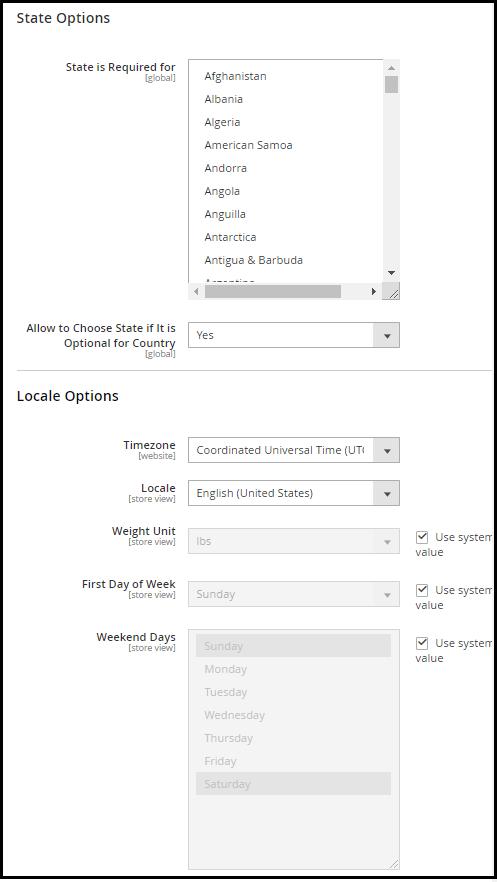 Store Configuration in Magento 2