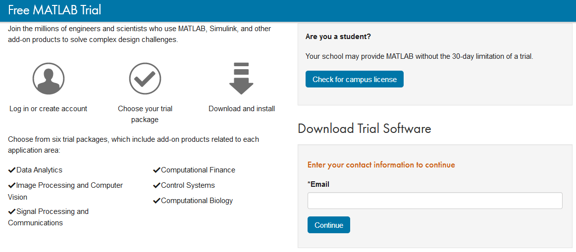 Downloading of MATLAB
