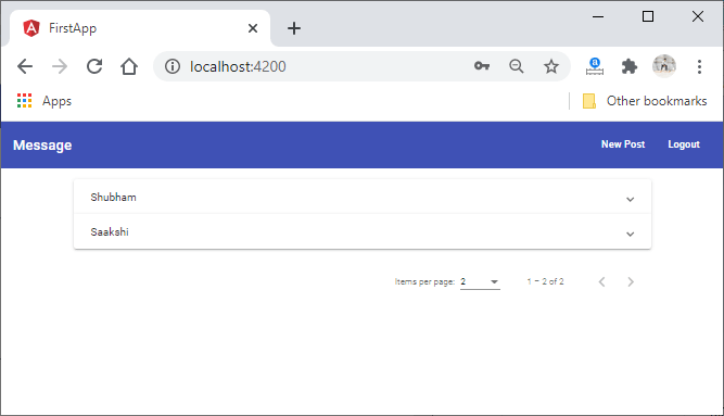 Connecting Logout Button and Redirecting the User in MEAN Stack