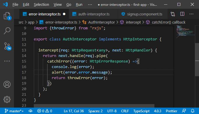Error Interceptor in MEAN Stack