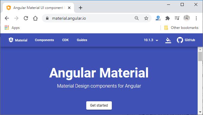 Installing Angular Material