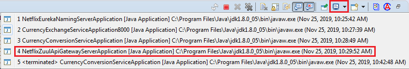 Executing a Request through Zuul API Gateway