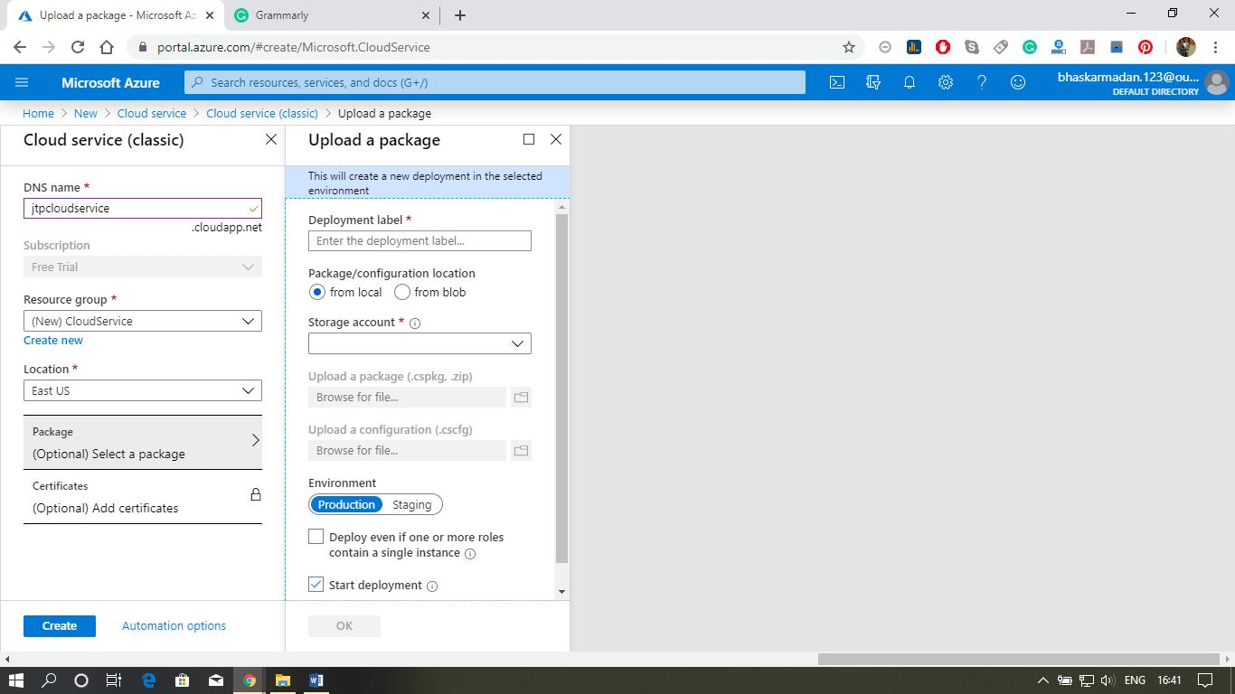 Azure Cloud Service