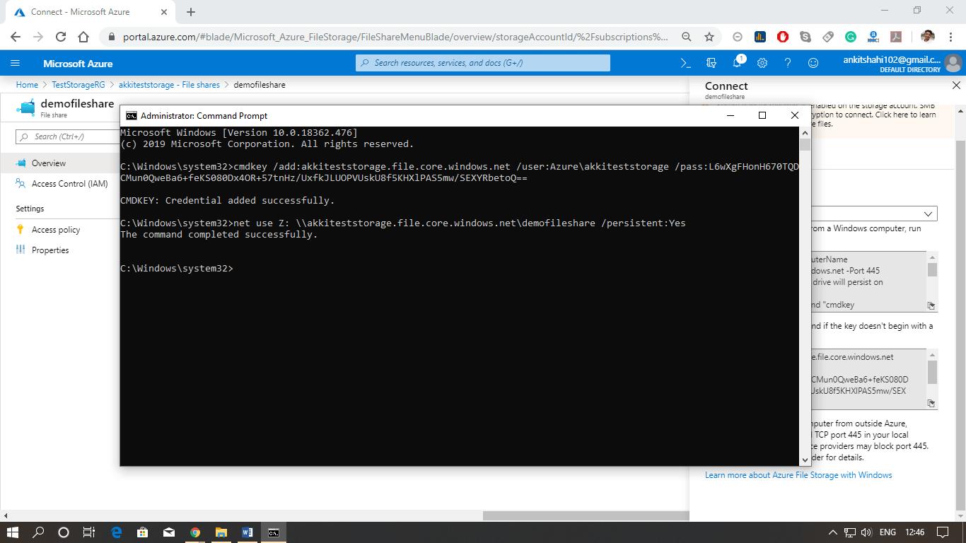 Azure File Storage Service