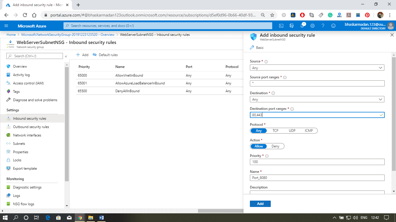 Azure Network Security