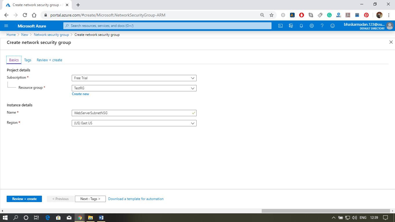 Azure Network Security