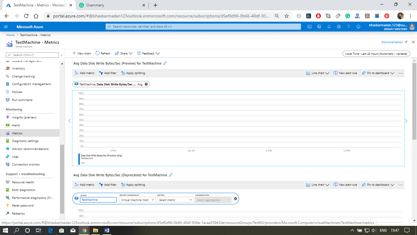 Azure VM Monitoring