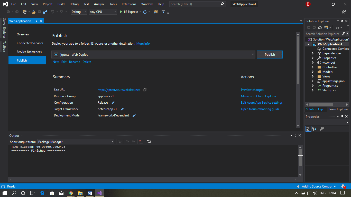 Azure Web App