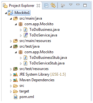 Examples of Mockito and JUnit in Eclipse IDE