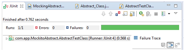 Spying or Mocking Abstract Classes