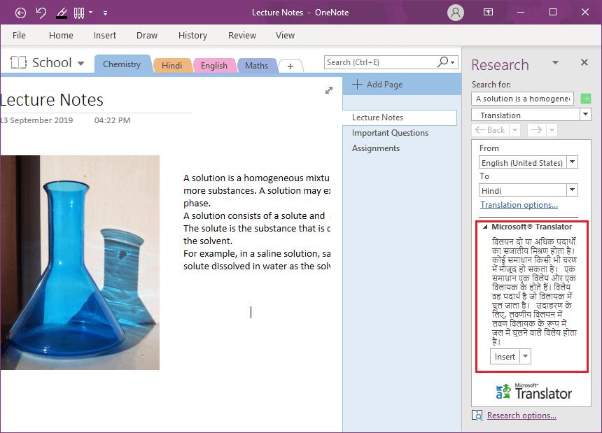 Basic tasks in OneNote