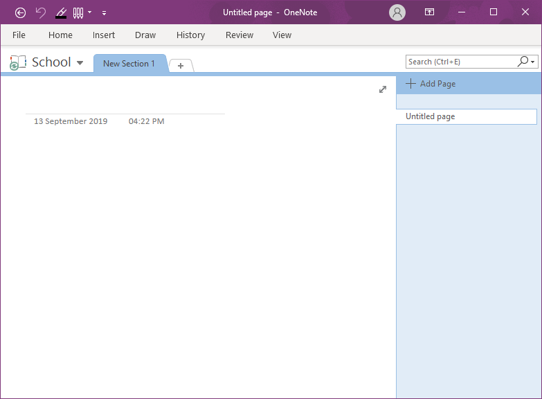 Creating Notebook in OneNote