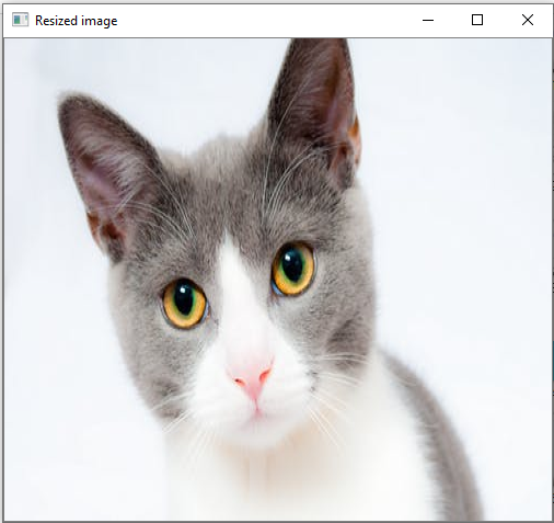 Example of resizing the images
