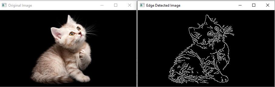 OpenCV Canny Edge detection