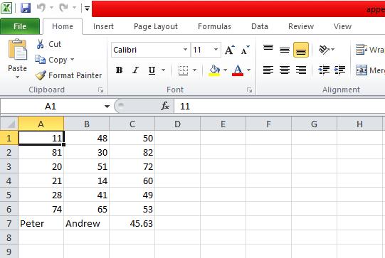 Openpyxl Append values