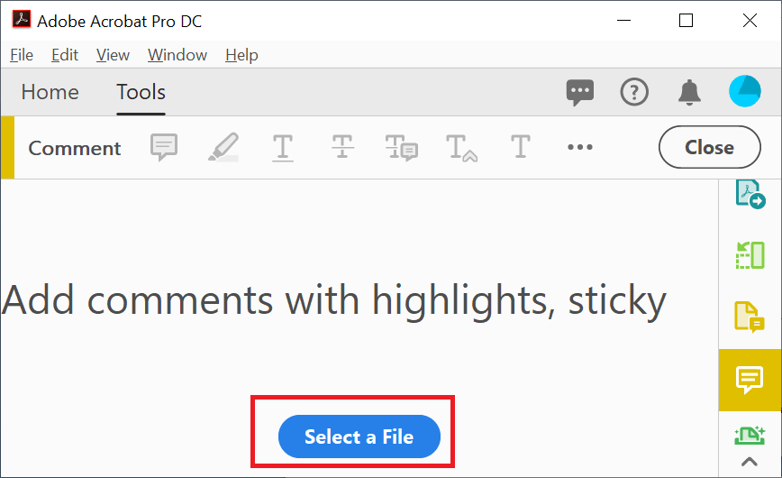Add Comments in PDF