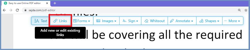 Add Hyperlink in PDF