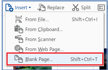 Add Pages in PDF