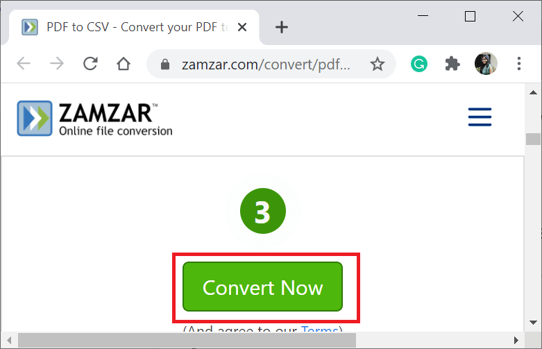 Convert PDF to CSV